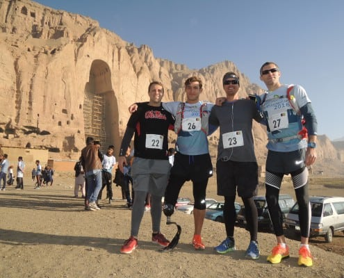 Runners at the Marathon of Afghanistan