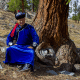 Love Nature - Famous Tuvan musician Borbak-Ool Salchak poses for a portrait