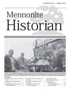 Mennonite Historian magazine